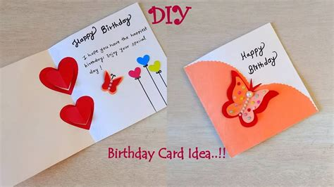 beautiful diy easy birthday card ideabirthday card