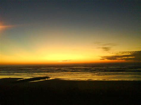 Newport Sunset Nye Beach January Photo Picture