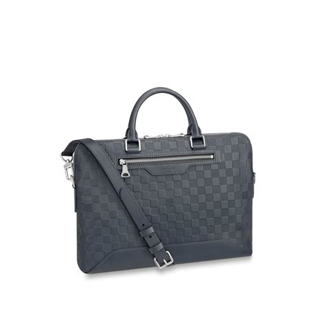 avenue soft briefcase damier infini leather mens bags