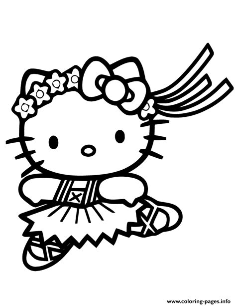 cute  kitty ballet coloring pages printable