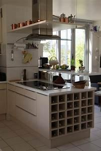decoration cuisine d39appartement exemples d39amenagements With deco petite cuisine appartement