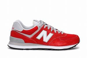 New Balance Mens Sneakers 574 Classic Red White ML574VIE ...