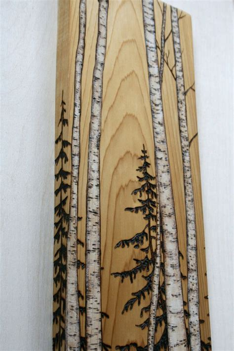 birch trees wood burning by birch trees block wood burning