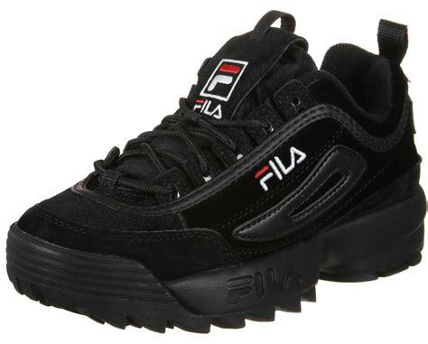 Sepatu Fila Black fila disruptor v w shoes black