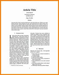 journal article format example