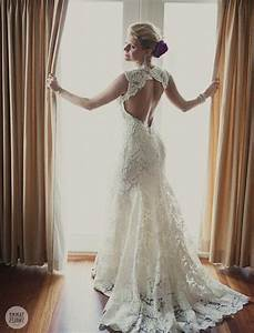 Lace wedding dress open back say yes dress naf dresses for No back wedding dress