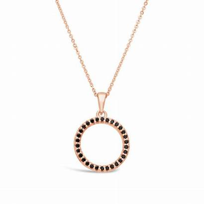 Gold Circle Rose Pendant Aura 9ct Diamonds
