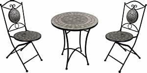 Mosaik Gartenmöbel Set : mosaik gartenm bel set 1 tisch und 2 st hle braun ~ Watch28wear.com Haus und Dekorationen