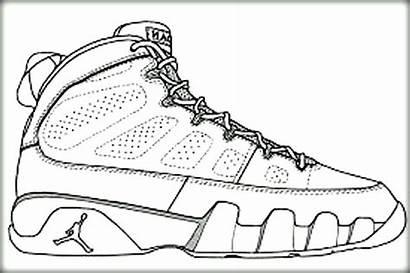 Coloring Shoes Pages Nike Shoe Jordan Basketball
