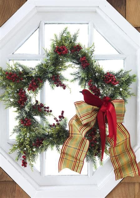 christmas wreaths for windows christmas window wreaths and door decor pinterest