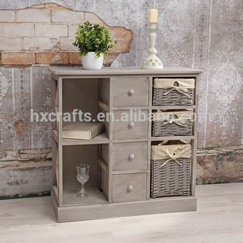 meuble cuisine shabby chic shabby chic grey wicker basket sideboard bar cabinet