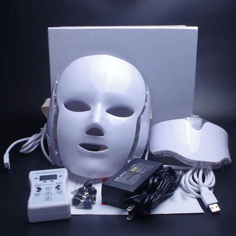 Led Face Mask 7 Color LED Facial Neck Mask with EMS