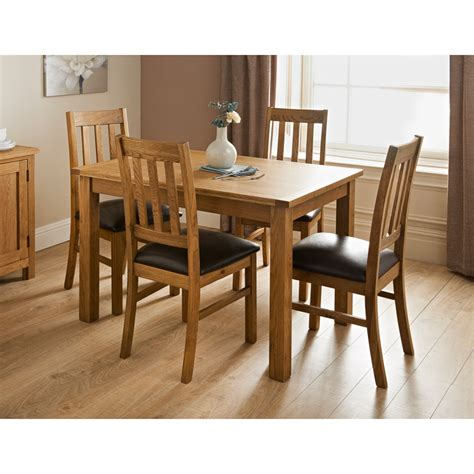 set table et chaises hshire oak dining set 7pc dining furniture b m