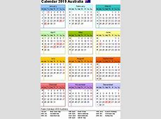 Yearly Calendar 2019 Template with QLD Holidays Free