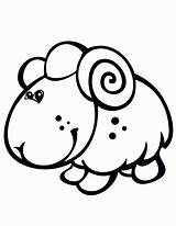 Coloring Sheep Pages Cute Lamb Cartoon Baby Printable Colouring Cliparts Clipart Everfreecoloring Clip Clipartbest Az Drawings Draw Library Hm Popular sketch template