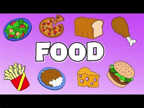 Learn Food Vocabulary  Talking Flashcards Youtube