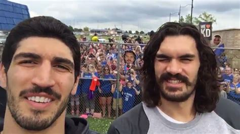 Stache Brothers Steven Adams and Enes Kanter thank OKC ...