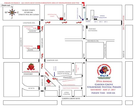Garden Grove Downtown Map