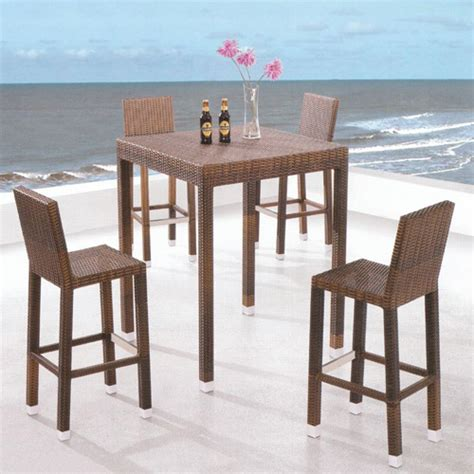 5 bar height patio dining set manufacturing paradise wicker 5 bar height