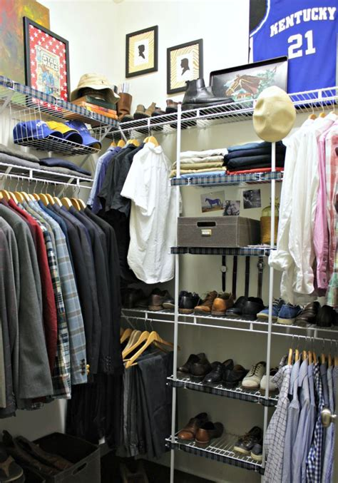 mens closet organization ideas  pinterest man