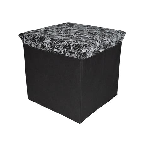sullivan leather square black storage ottoman coffee table cube black upholstered