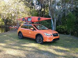 Front And Back Crosstrek Tie Down Locations For Sea Kayak