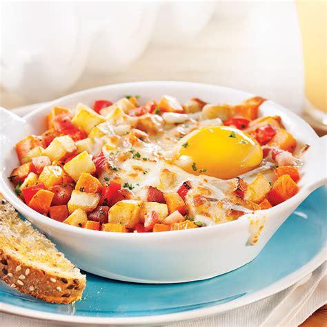cuisine a base d oeuf cassolettes d 39 œuf patate douce et pancetta recettes