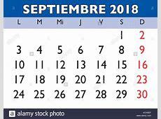 Calendario 2018 Stock Photos & Calendario 2018 Stock