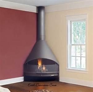 Cheminée à Foyer Ouvert : cheminee angle foyer ouvert ~ Premium-room.com Idées de Décoration