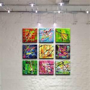 peinture tableau oeuvre art abstrait sur toile projets a With chambre bébé design avec fleur de bach 88