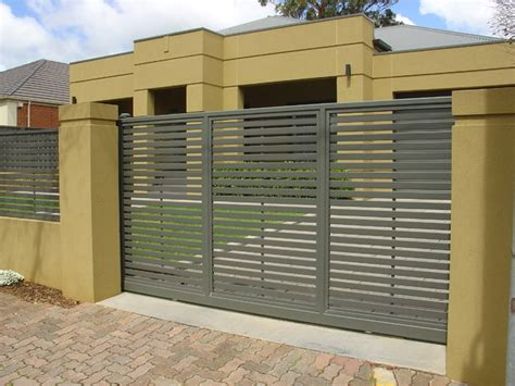 modern metal fence design modern fencing modern home fencing gates adelaide by hindmarsh fencing wrought iron