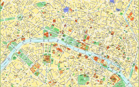 paris city centre map  tourist attractions