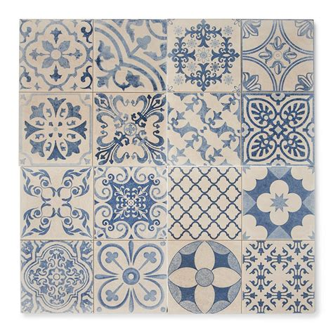 tangier blue patterned tiles porcelain superstore