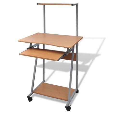 table de bureau acheter table de bureau brun pour ordinateur avec