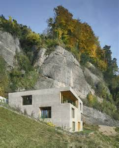 hillside home plans hillside home is wood frame construction with concrete facade modern house designs