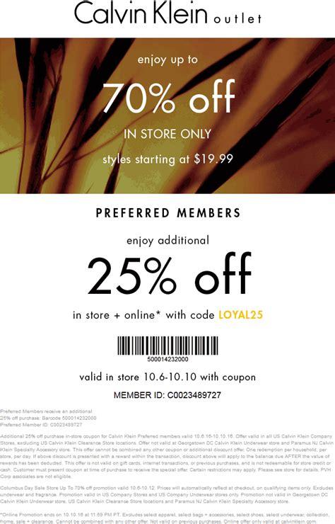calvin klein march  coupons  promo codes