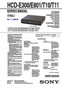 Sony Cmt-m9  Hcd-d11  Hcd-t11 Service Manual