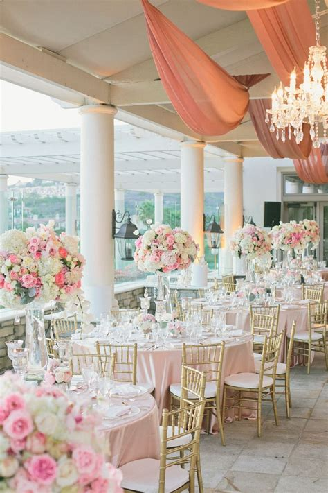 romantic pink white wedding  st regis monarch beach