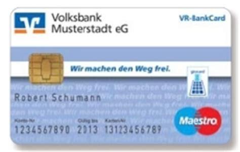 vr bank card kartennummer