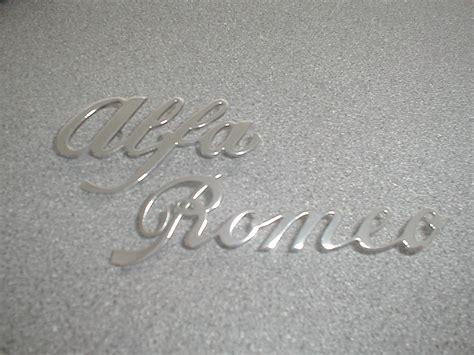 alfa romeo chrome badges eb spares news