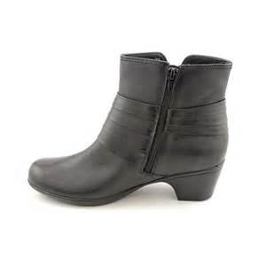 womens boots in wide width clarks ingalls pecos womens size 8 5 black wide leather fashion ankle boots ebay