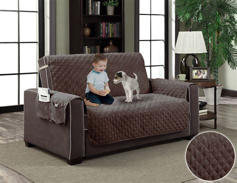 Micro-suede Slipcover Pockets Pet Dog Couch Furniture