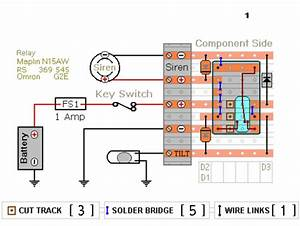Relay Based Motorcycle Alarm Circuit Diagrams