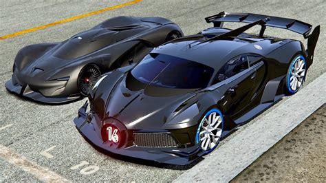 Red bull vision x 2030 vs srt tomahawk x vgt at highlands. Bugatti Black Devil VGT vs SRT Tomahawk X VGT at Le Mans 24h Circuit - YouTube