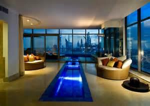 beautiful livingroom construcción de piscinas dentro de la casa en 36 diseños