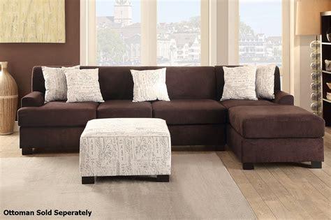 Nia Brown Fabric Sectional Sofa Steal A Sofa Furniture