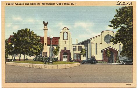 Baptist Church And Soldier's Monument, Cape May, N. J