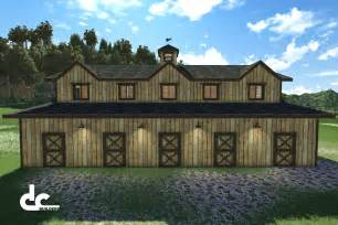 Barn with Living Quarters Floor Plans