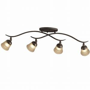 Portfolio light olde bronze flush mount fixed track