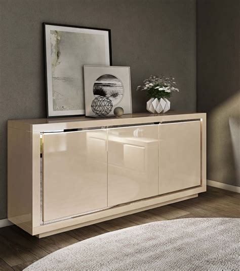 floris cream high gloss sideboard cm